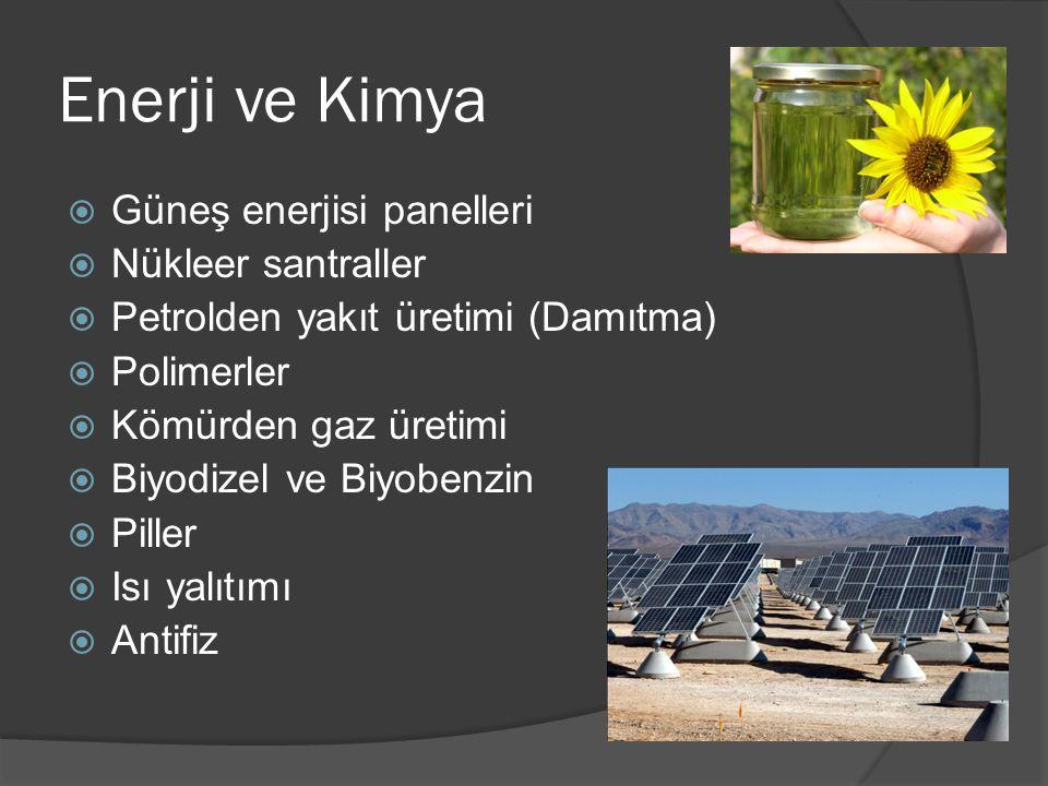 Enerji ve Kimya Güneş enerjisi panelleri Nükleer santraller