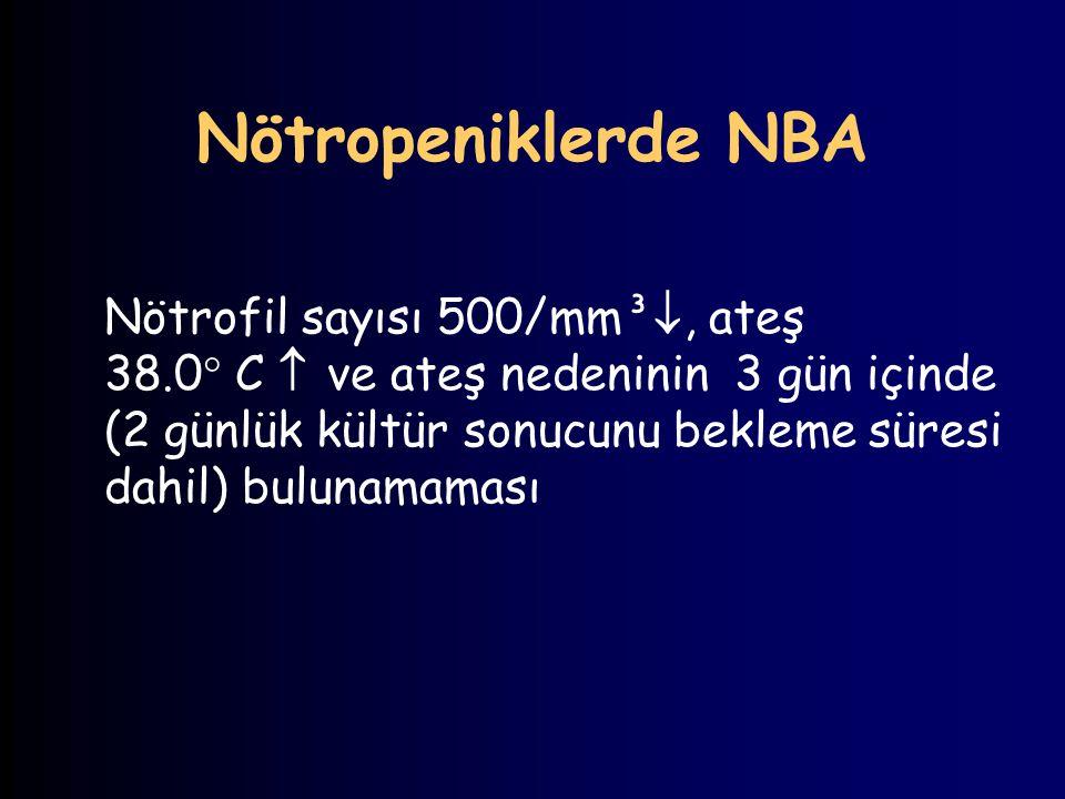 Nötropeniklerde NBA