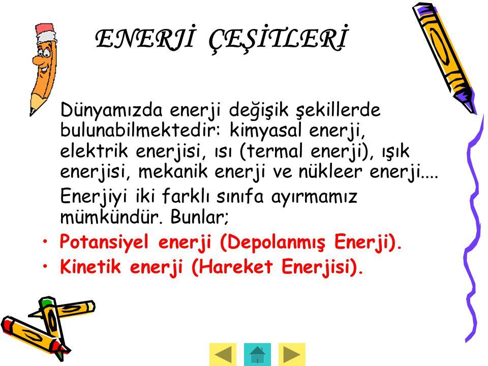 ENERJİ ÇEŞİTLERİ