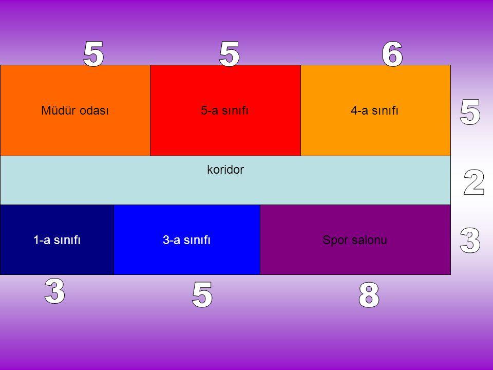 5 5 6 5 2 3 3 5 8 koridor Müdür odası 5-a sınıfı 4-a sınıfı 1-a sınıfı