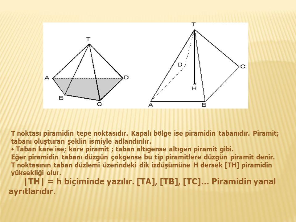 T noktası piramidin tepe noktasıdır