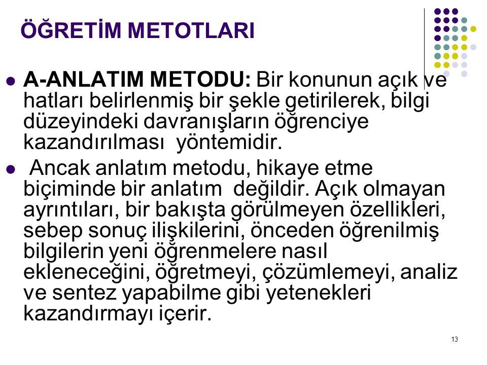 ÖĞRETİM METOTLARI