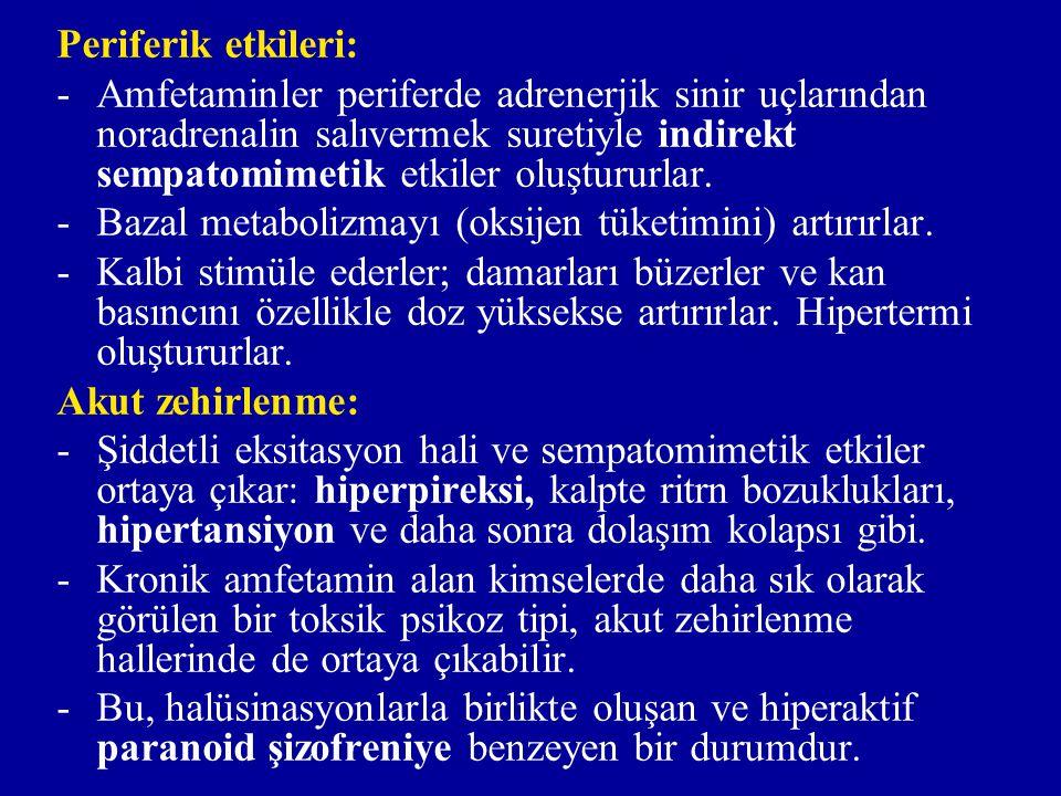 Periferik etkileri: