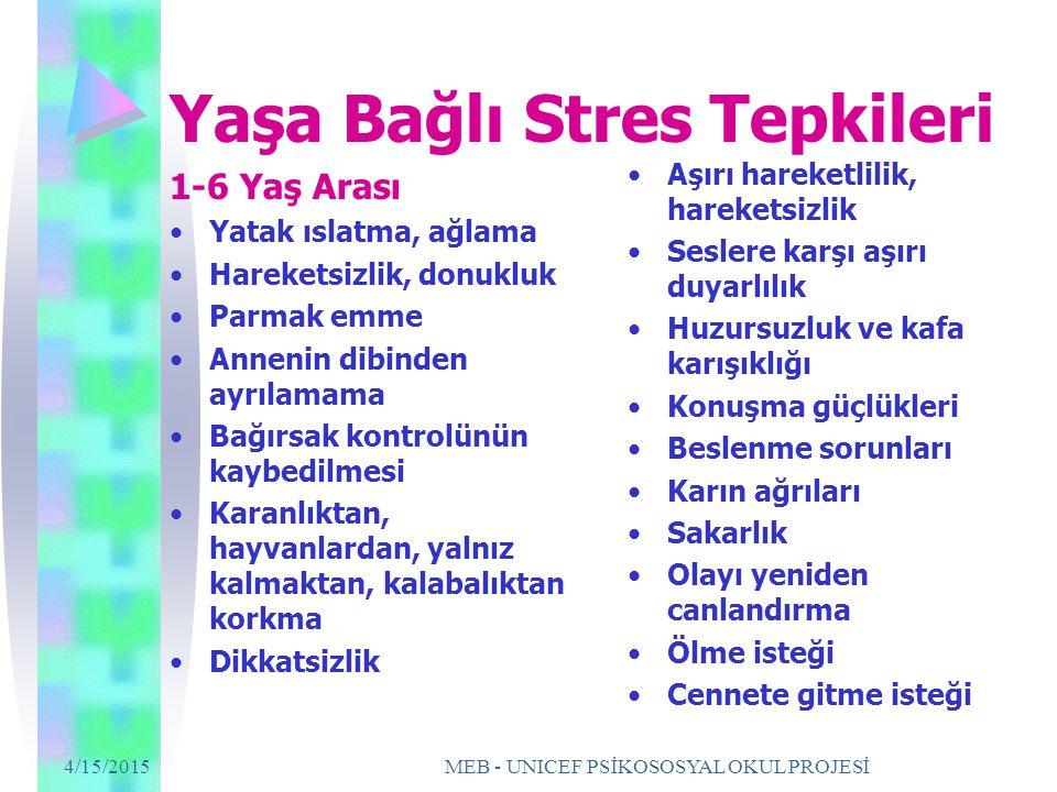 Yaşa Bağlı Stres Tepkileri