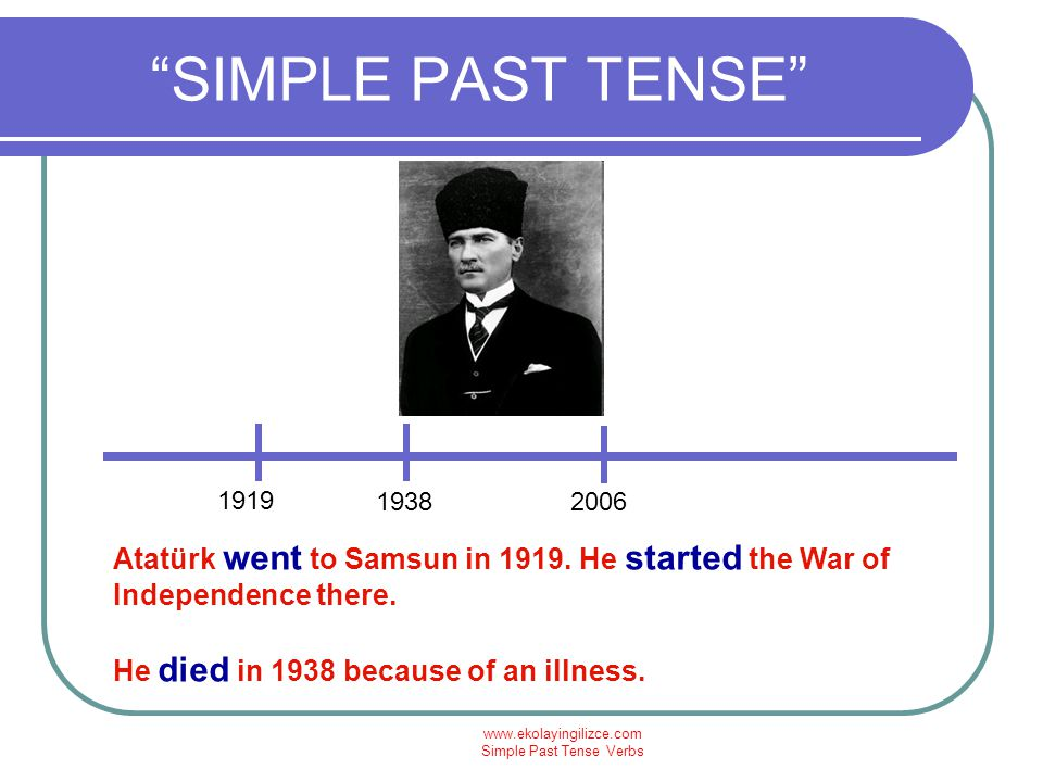 Simple Past Tense Verbs