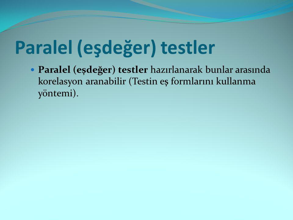 Paralel (eşdeğer) testler