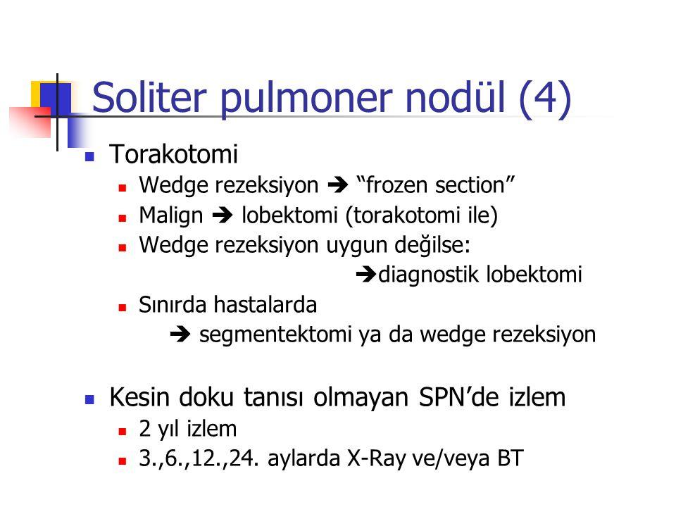 Soliter pulmoner nodül (4)