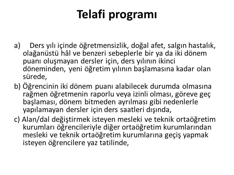 Telafi programı