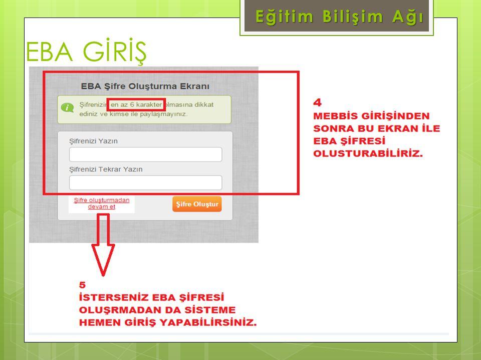 EBA GİRİŞ Eğitim Bilişim Ağı www.eba.gov.tr