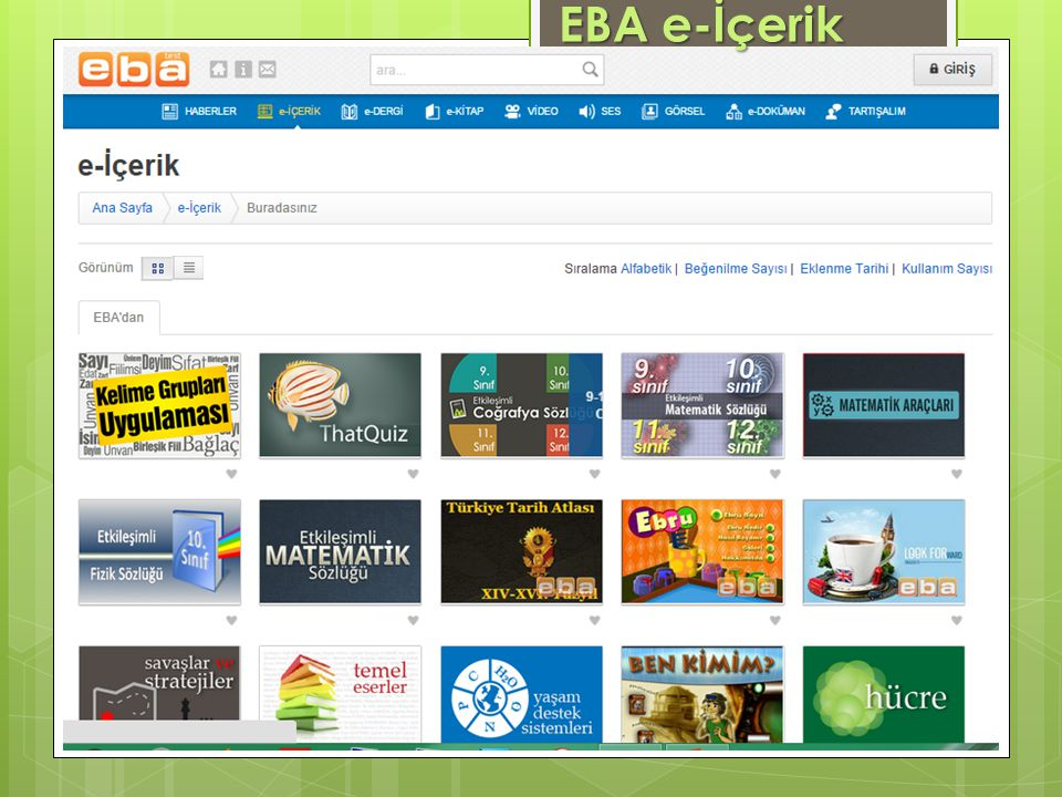 EBA e-İçerik www.eba.gov.tr