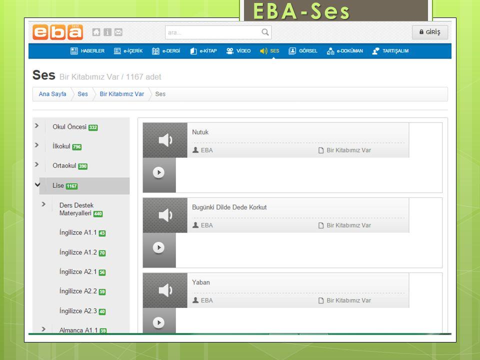 EBA-Ses www.eba.gov.tr