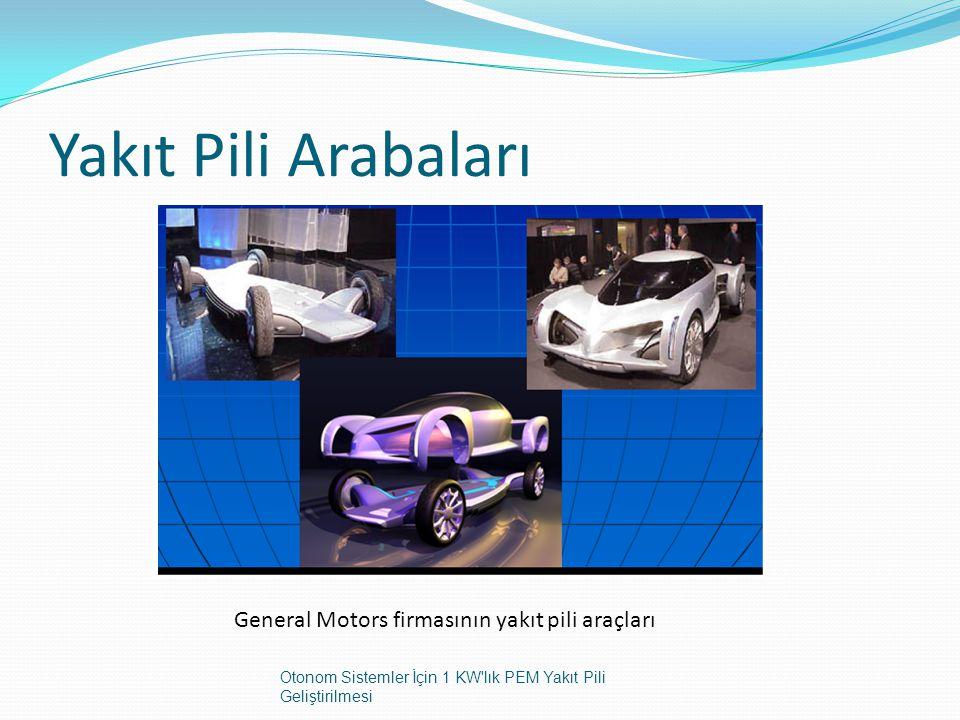 Yakıt Pili Arabaları General Motors firmasının yakıt pili araçları