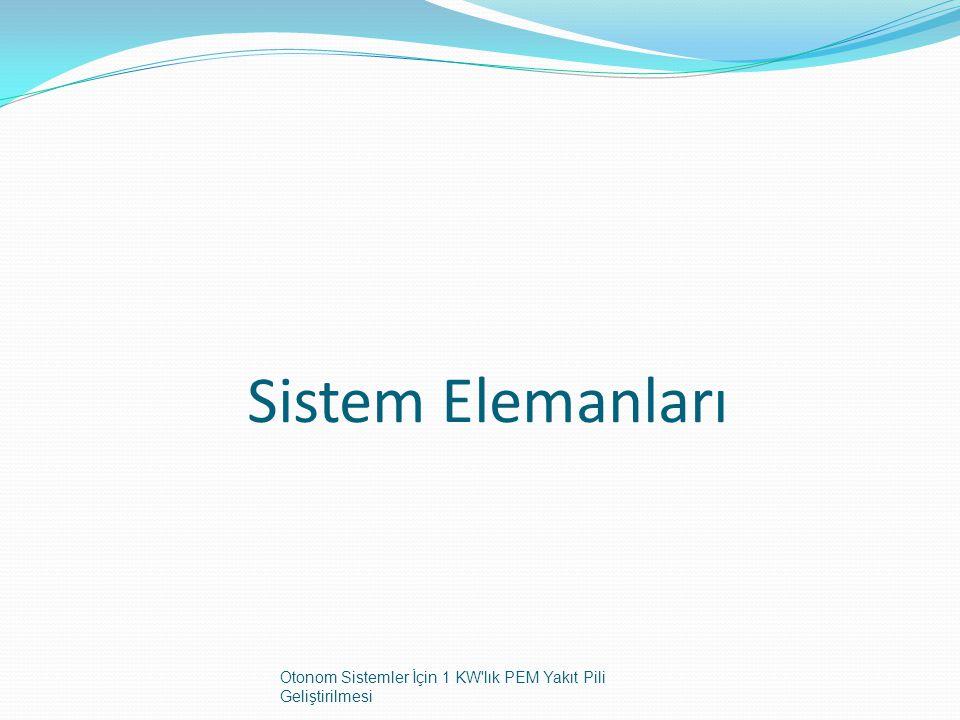 Sistem Elemanları Otonom Sistemler İçin 1 KW lık PEM Yakıt Pili Geliştirilmesi