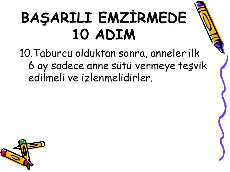 BAŞARILI EMZİRMEDE 10 ADIM