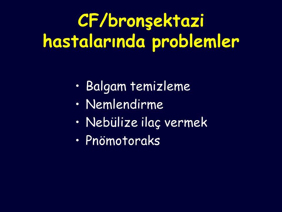 CF/bronşektazi hastalarında problemler