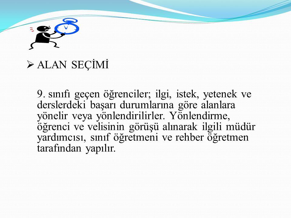 ALAN SEÇİMİ