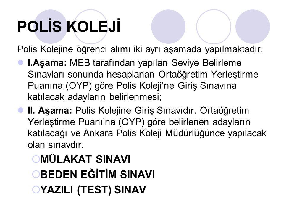 POLİS KOLEJİ MÜLAKAT SINAVI BEDEN EĞİTİM SINAVI YAZILI (TEST) SINAV