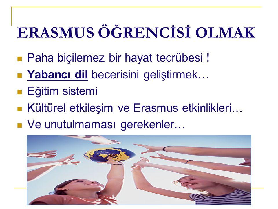 ERASMUS ÖĞRENCİSİ OLMAK