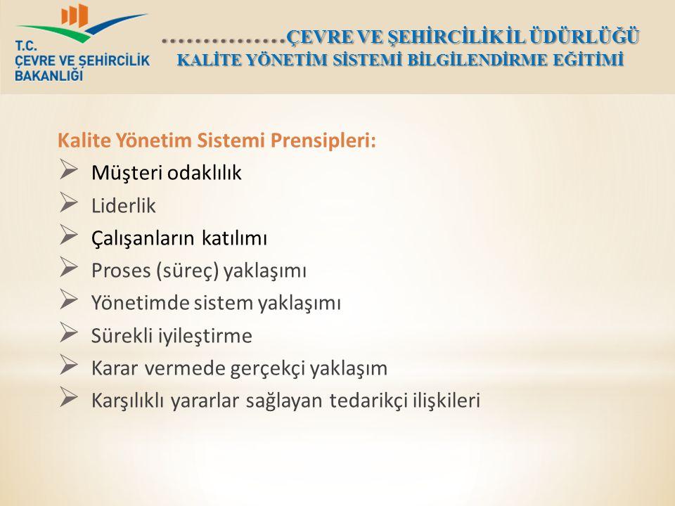 Kalite Yönetim Sistemi Prensipleri:
