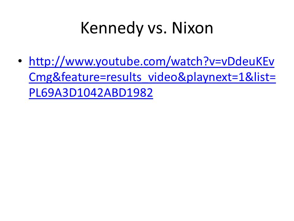 Kennedy vs.