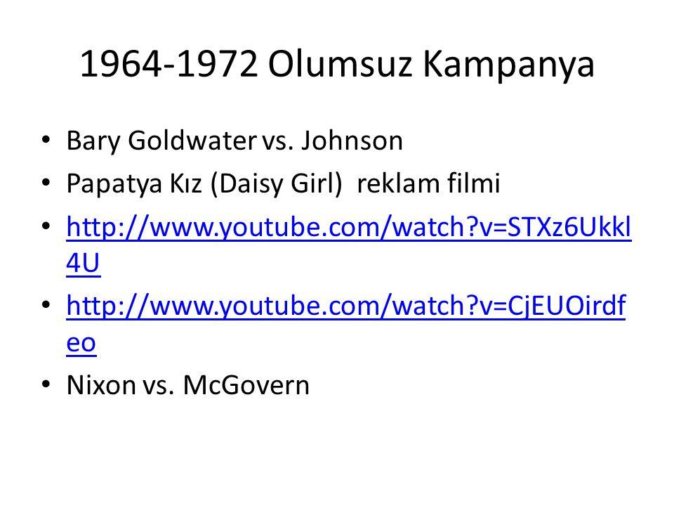 1964-1972 Olumsuz Kampanya Bary Goldwater vs. Johnson