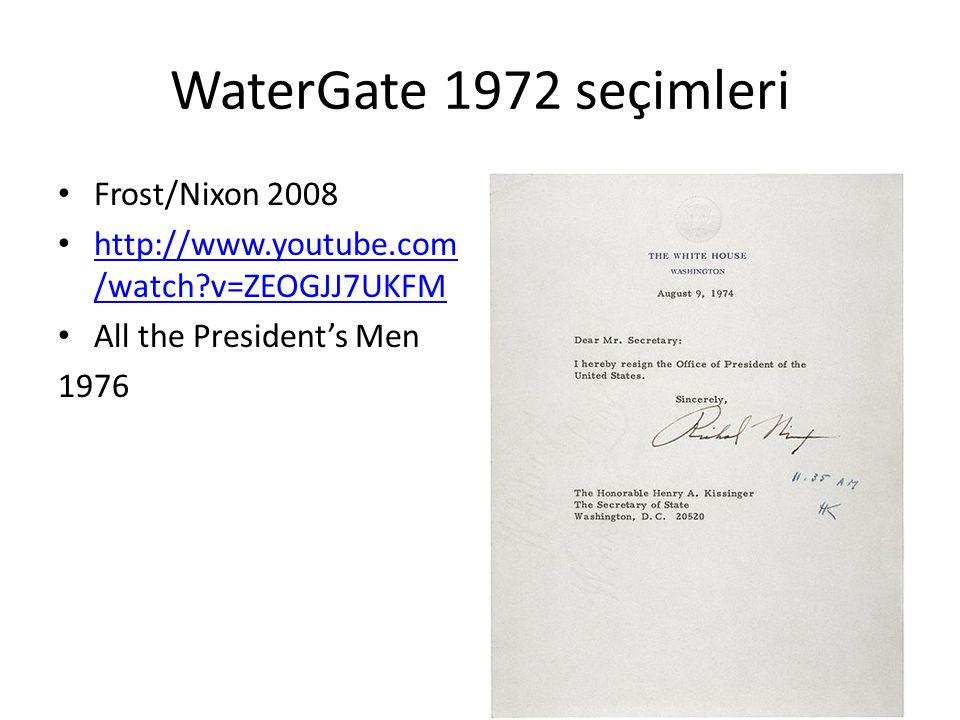 WaterGate 1972 seçimleri Frost/Nixon 2008