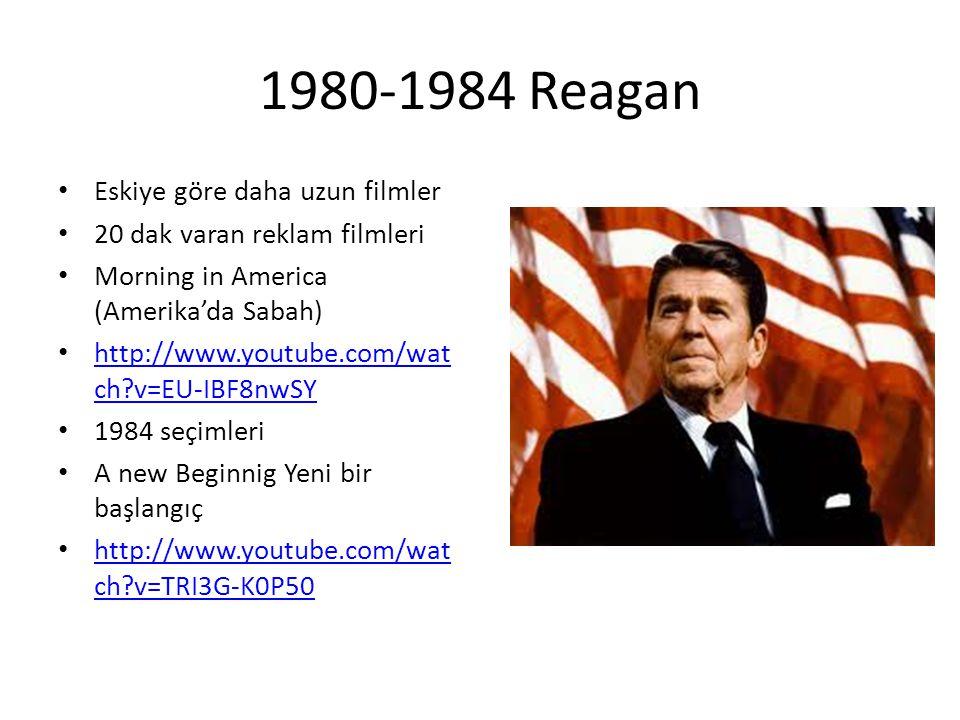1980-1984 Reagan Eskiye göre daha uzun filmler