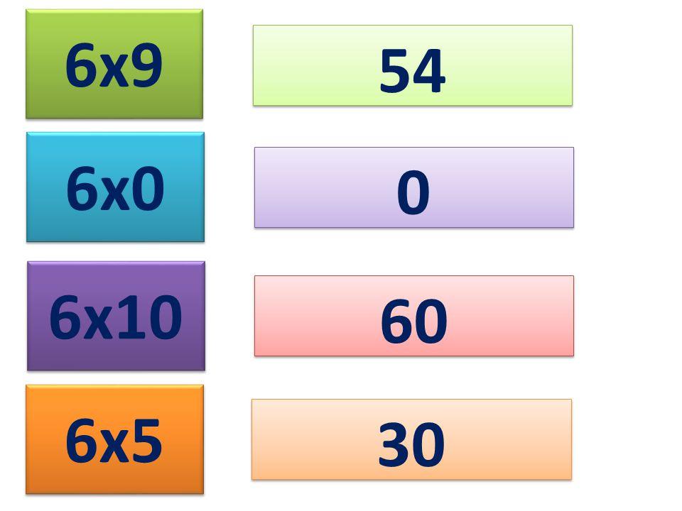 6x9 54 6x0 6x10 60 6x5 30