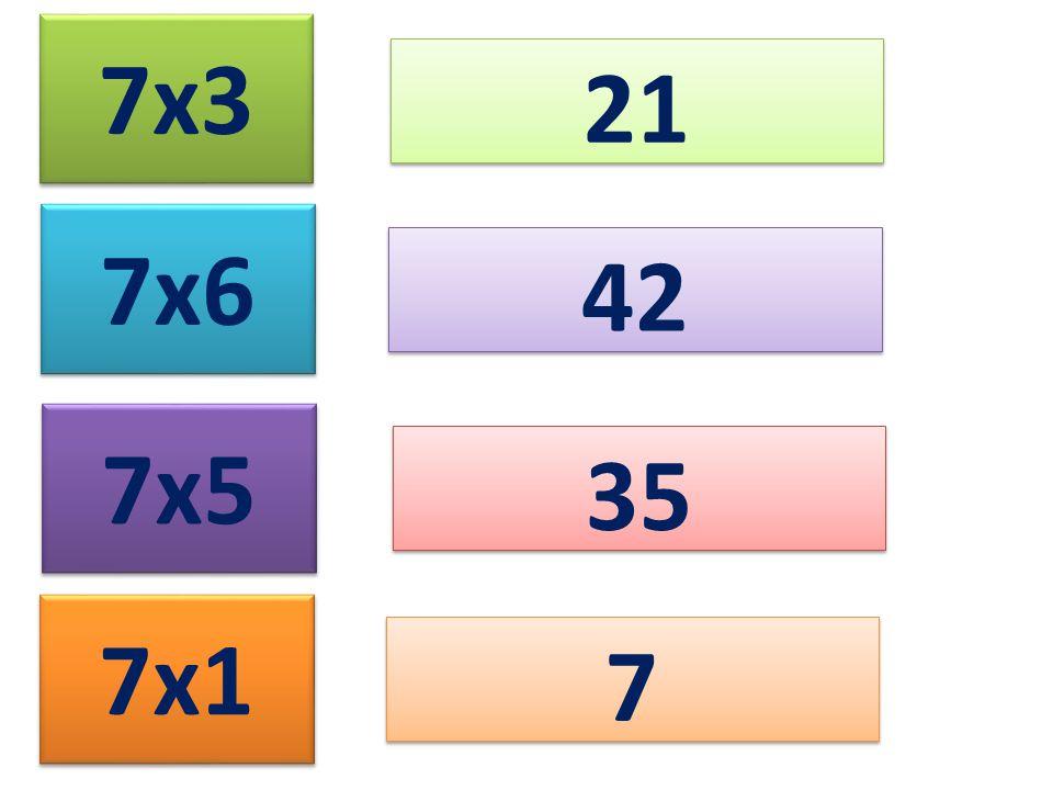 7x3 21 7x6 42 7x5 35 7x1 7