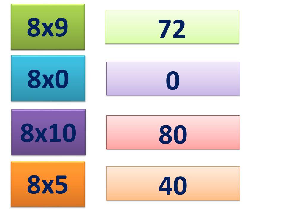 8x9 72 8x0 8x10 80 8x5 40