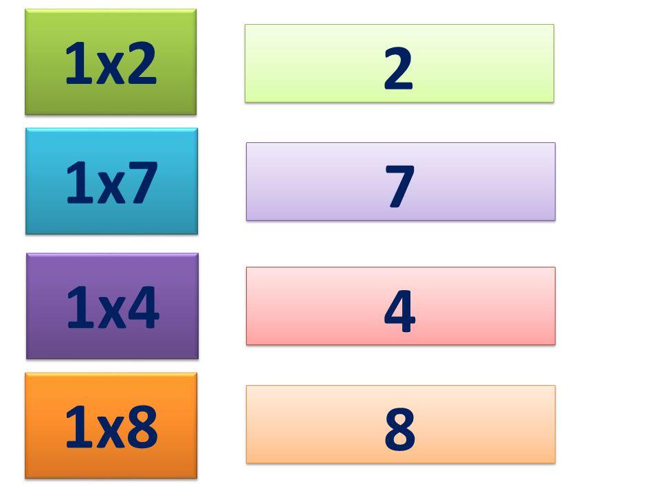 1x2 2 1x7 7 1x4 4 1x8 8