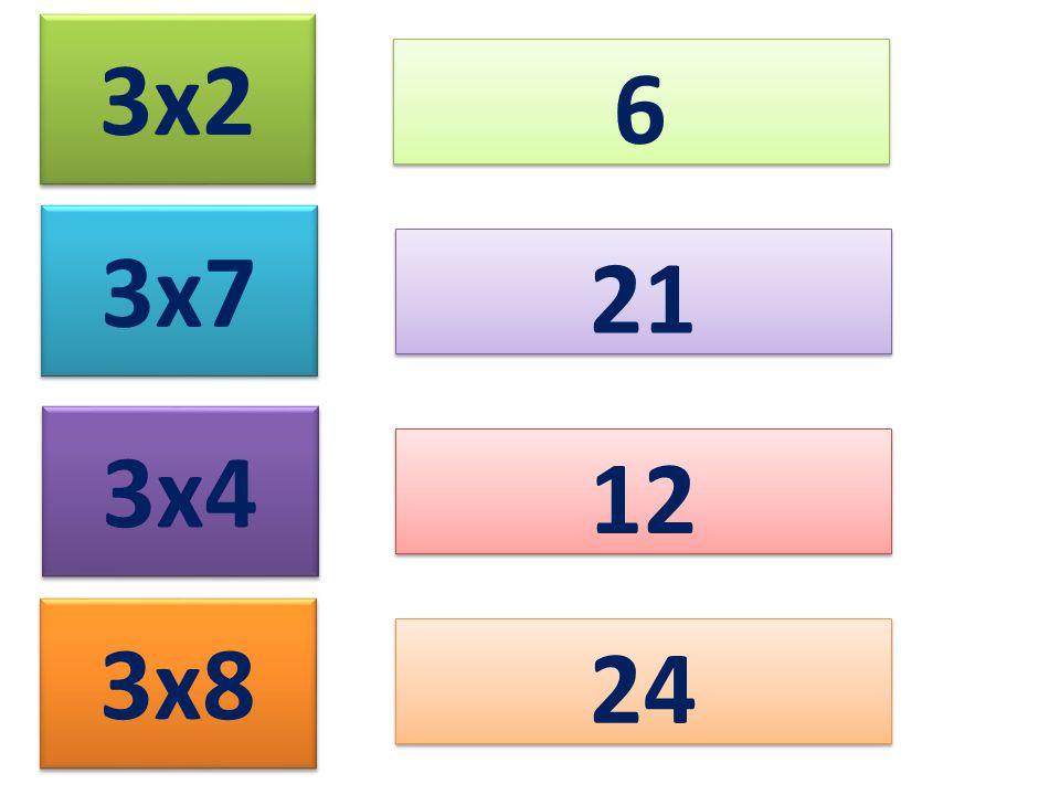3x2 6 3x7 21 3x4 12 3x8 24