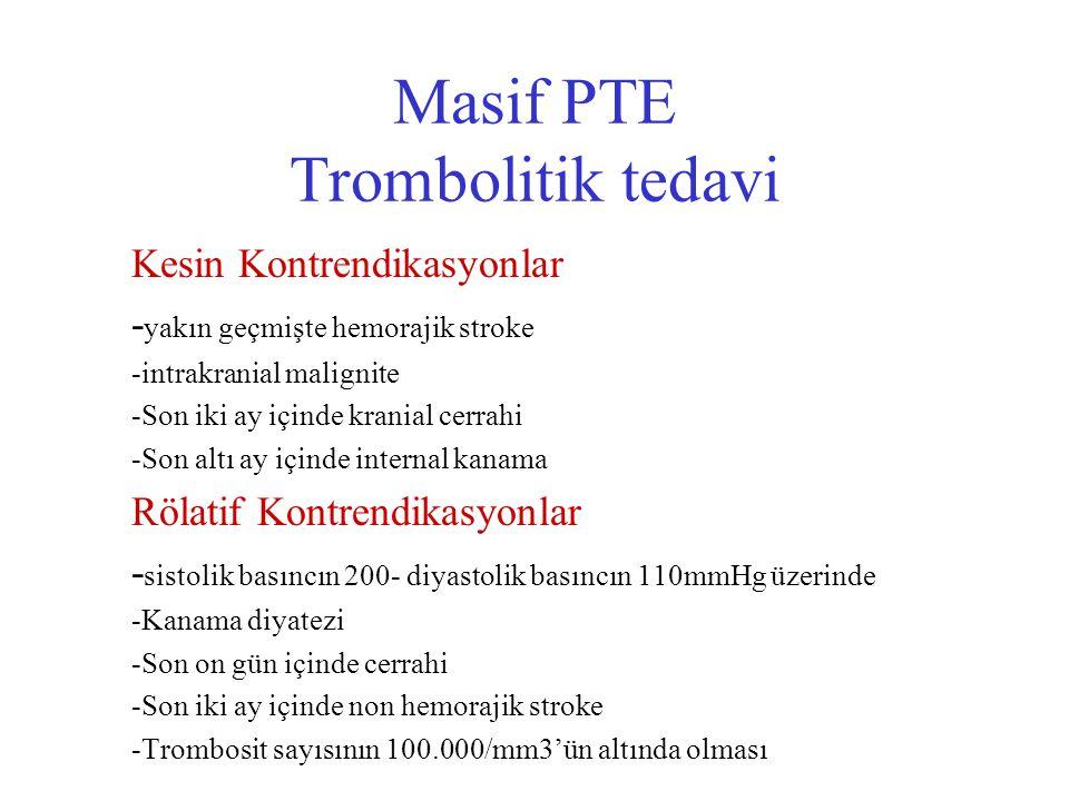 Masif PTE Trombolitik tedavi