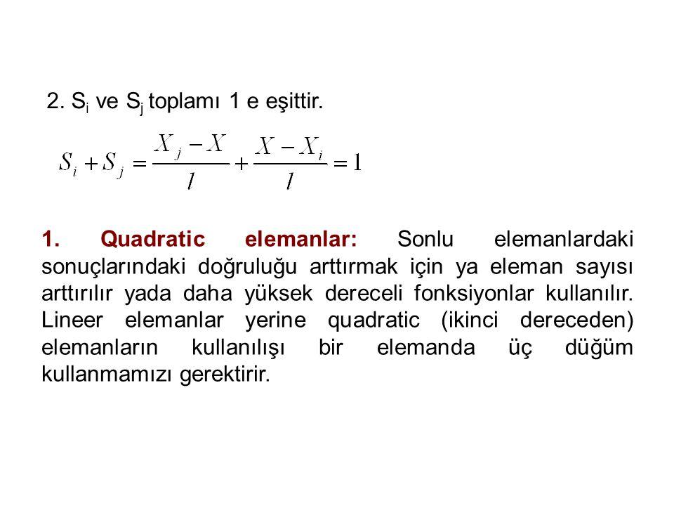 2. Si ve Sj toplamı 1 e eşittir.