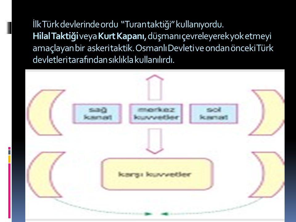 İlk Türk devlerinde ordu Turan taktiği kullanıyordu