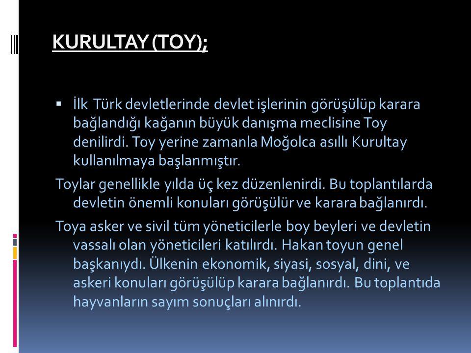 KURULTAY (TOY);