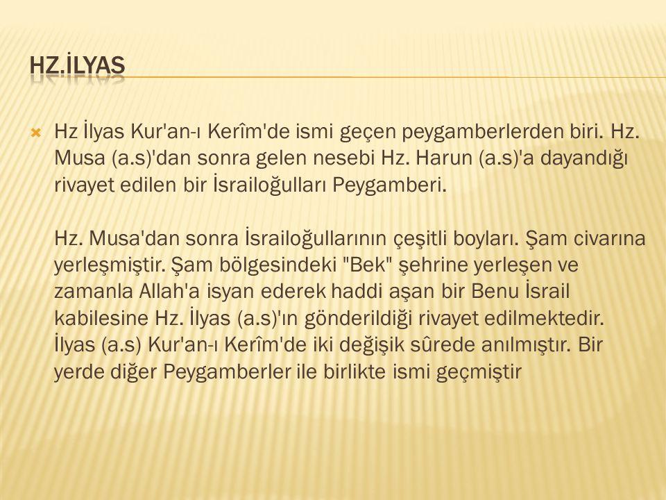 HZ.İLYAS