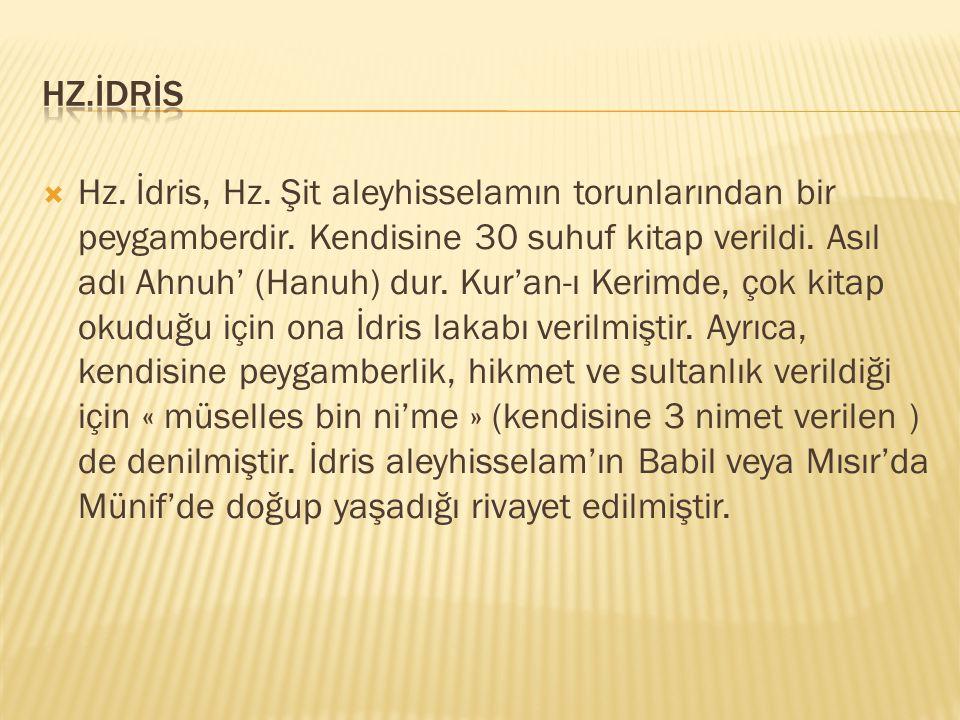 Hz.İdrİs