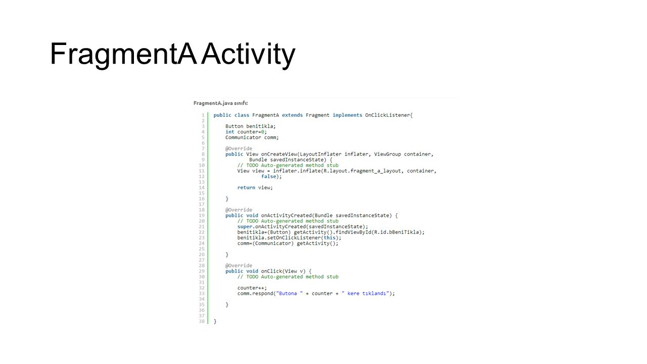 FragmentA Activity
