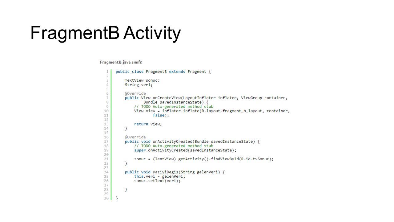 FragmentB Activity