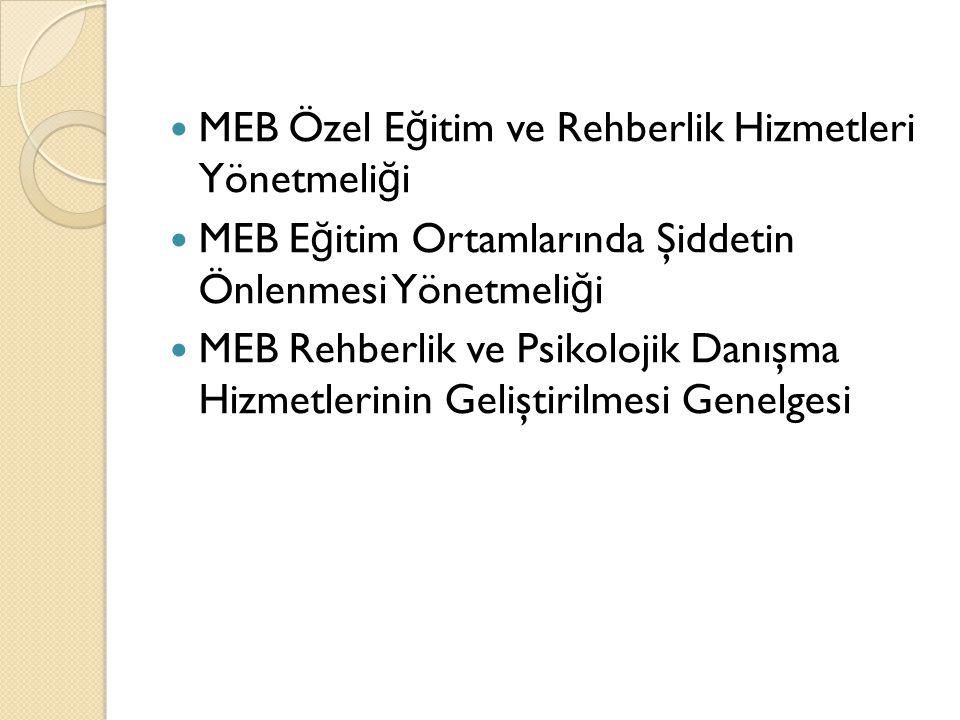 MEB Özel Eğitim ve Rehberlik Hizmetleri Yönetmeliği