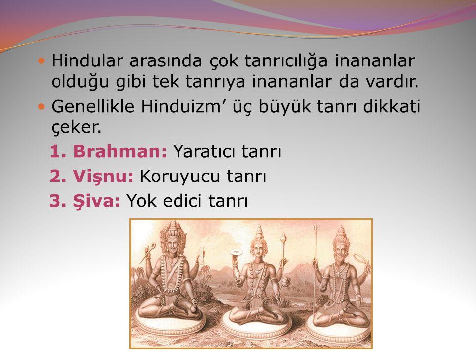 Hindular arasında çok tanrıcılığa inananlar olduğu gibi tek tanrıya inananlar da vardır.