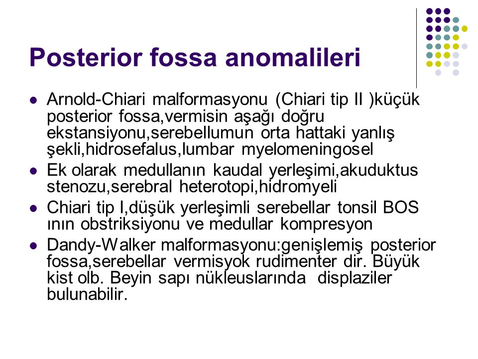 Posterior fossa anomalileri