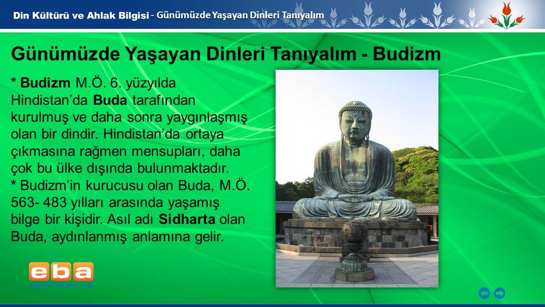Günümüzde Yaşayan Dinleri Tanıyalım - Budizm