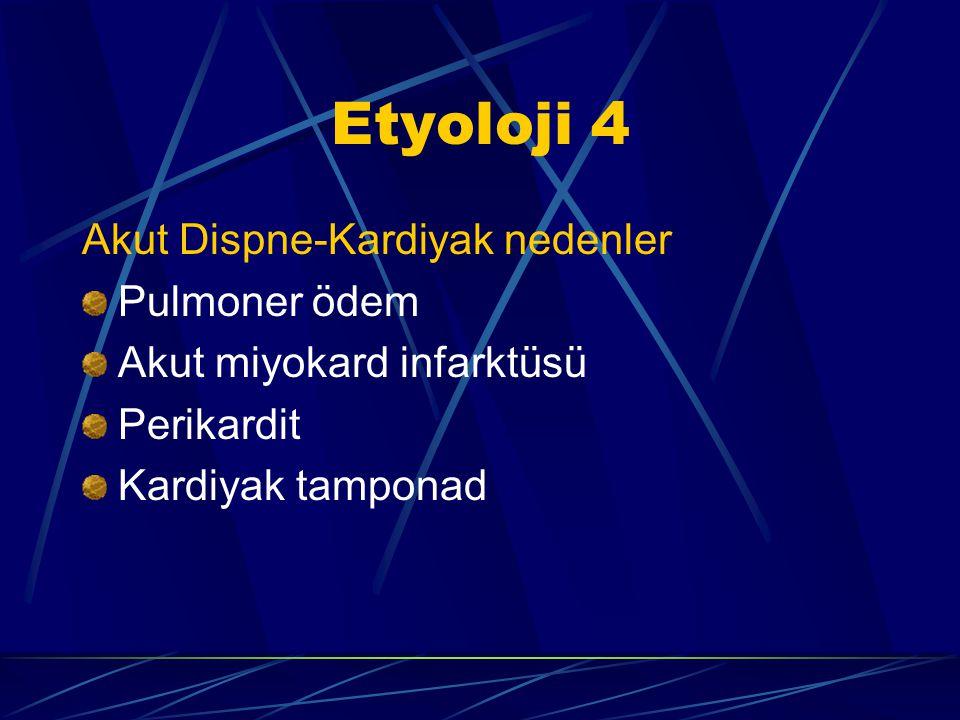 Etyoloji 4 Akut Dispne-Kardiyak nedenler Pulmoner ödem