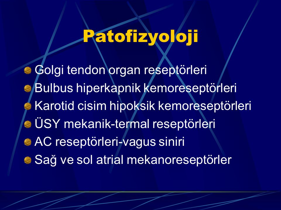 Patofizyoloji Golgi tendon organ reseptörleri