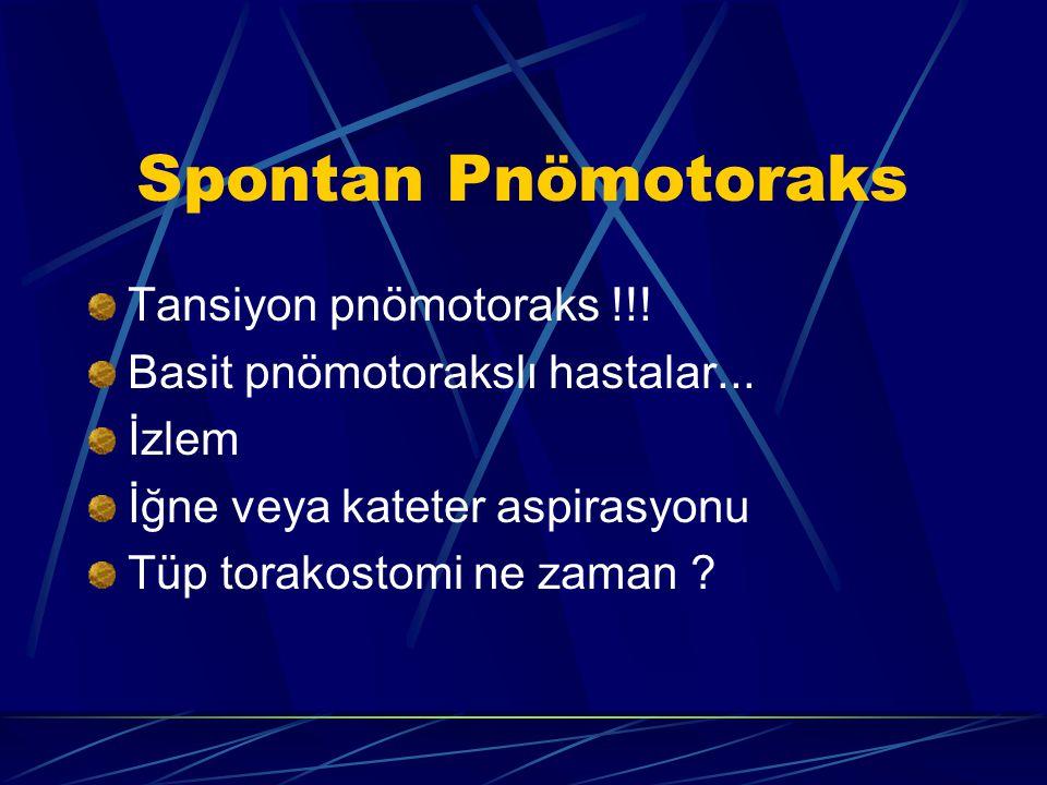 Spontan Pnömotoraks Tansiyon pnömotoraks !!!