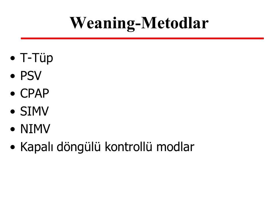 Weaning-Metodlar T-Tüp PSV CPAP SIMV NIMV
