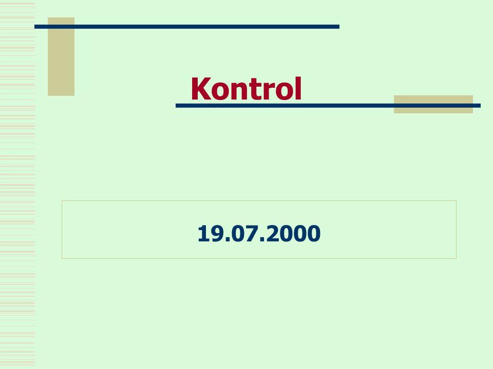 Kontrol 19.07.2000