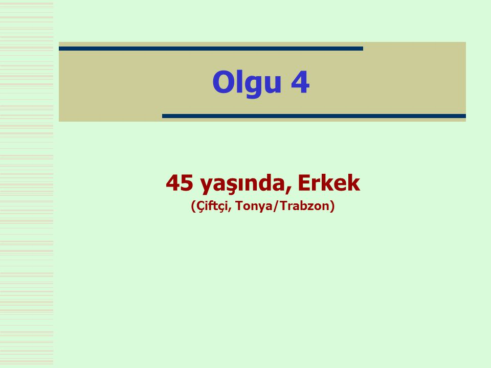 45 yaşında, Erkek (Çiftçi, Tonya/Trabzon)